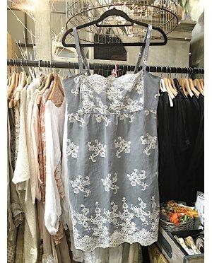 Lace by Donelle Scott | Blue-Grey Lace Shift Dress