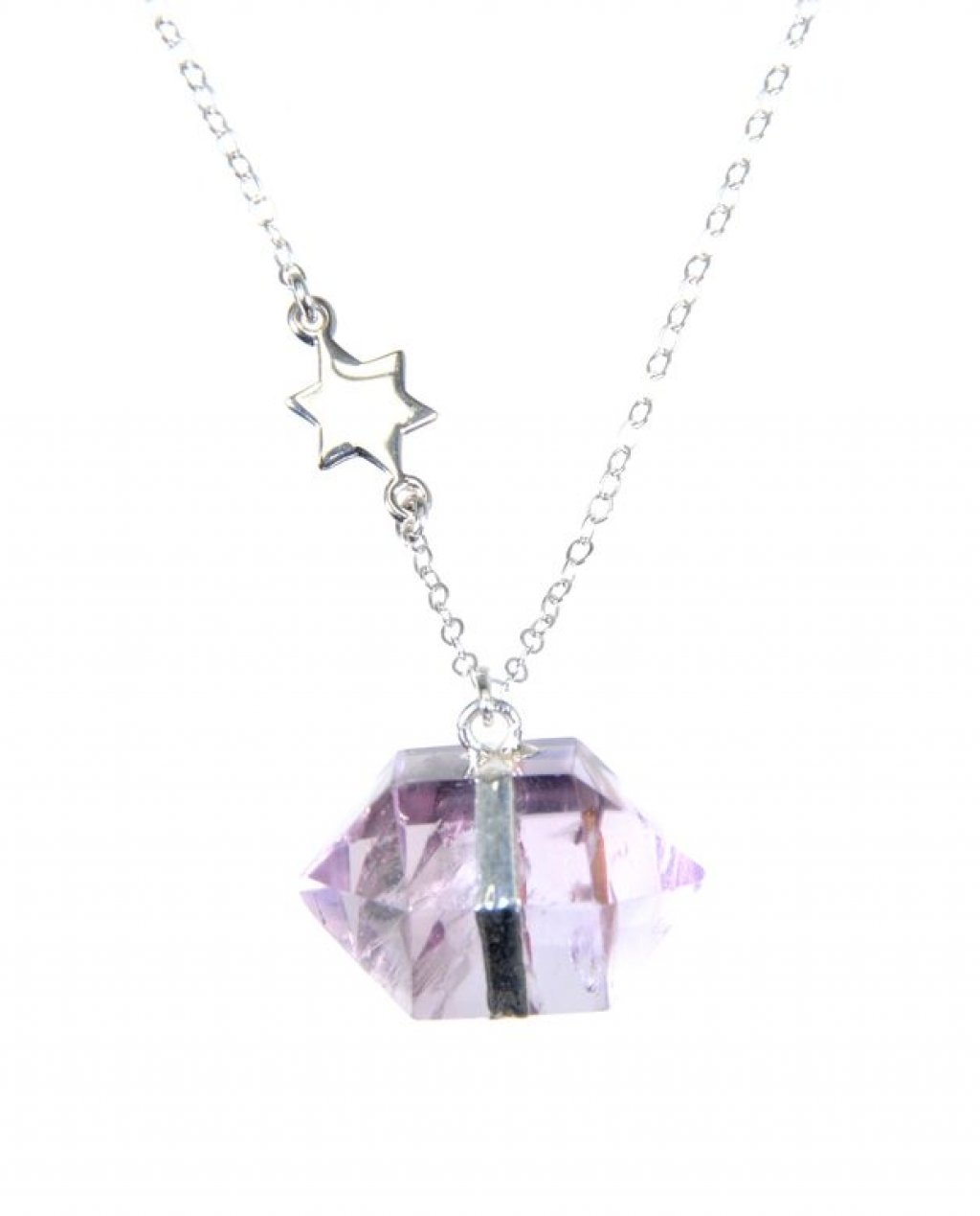 Pam Kerr Designs | Amethyst Nugget Necklace | Sterling Silver with Star Charm