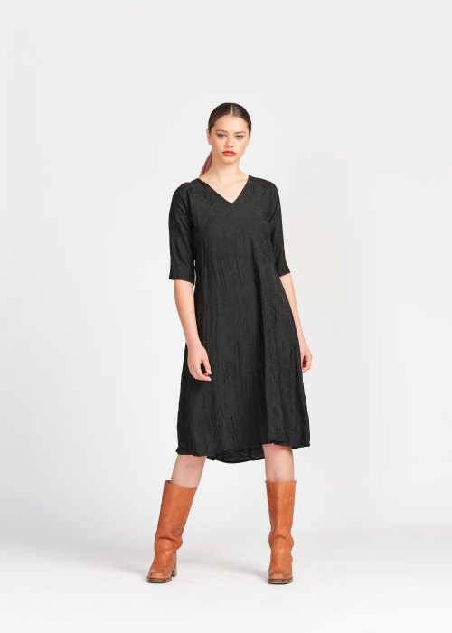 Widdess | Dorothy Dress | Onyx | Linen/Tencel