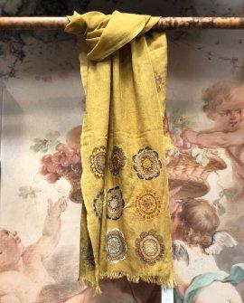 Sophie Digard - Structure - Half-embroidered Woollen Scarf
