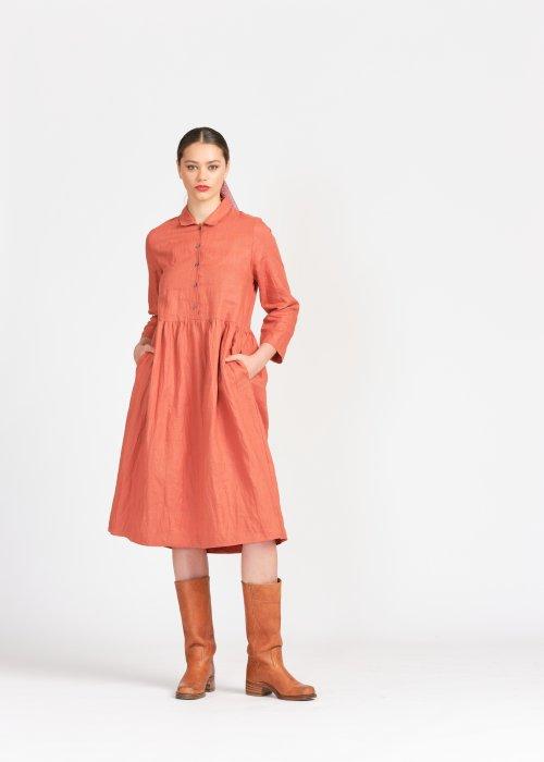 Widdess |Jubilee Dress | Cinnamon | 100% Linen