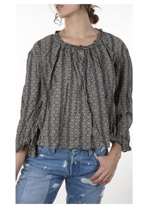 Magnolia Pearl - Abaigael Stagecoach Blouse / Overtop - Cotton