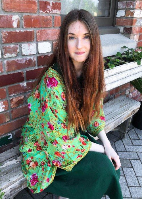 Inoa Fashions | Silk Kimono-style Housecoat | Chartreuse