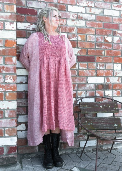 Meg by Design   Annabelle Linen Dress   Red Check