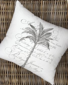 Cushion by Arcanum | Hand-screen-printed