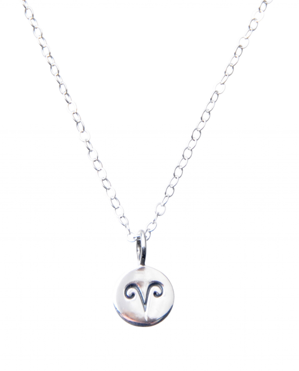 Pam Kerr Designs | Sterling Silver Zodiac Charm Necklace | 1-Aries