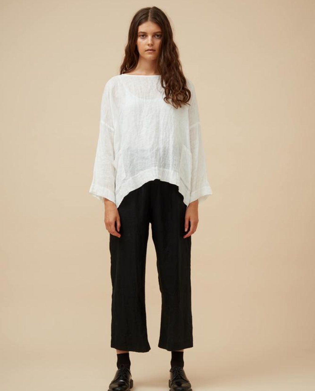 Widdess - Asa Top -Linen - Cloud