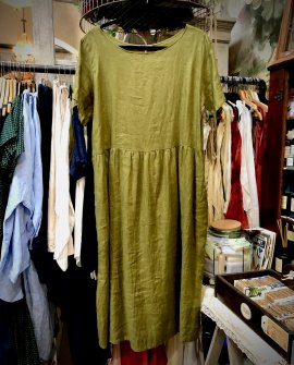 Widdess - Atlanta Dress - Linen - Sage