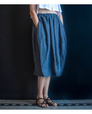 Banana Blue - Linen Skort - Skirt-Shorts
