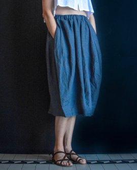 2859583285 Banana Blue - Linen Skort - Skirt-Shorts
