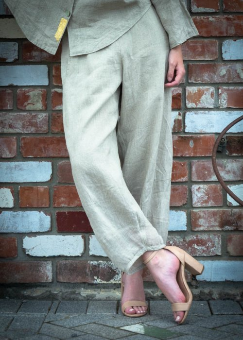 Banana Blue | Loose Linen Pants | Flax