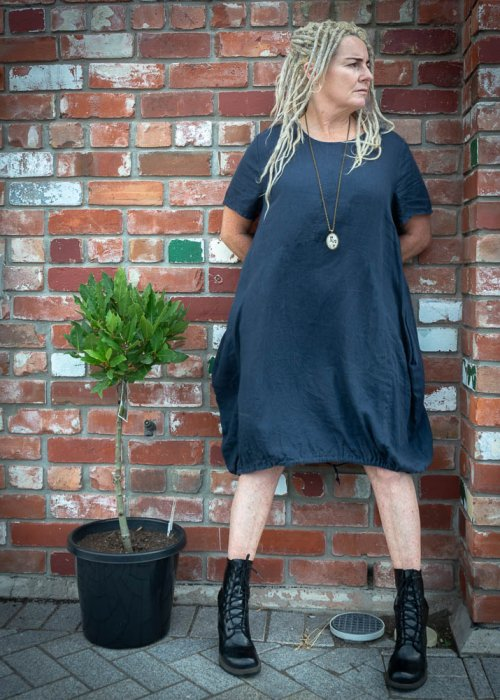 Banana Blue | Linen Dress | Navy