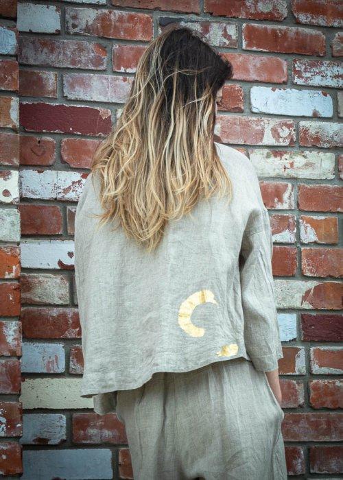 ALL NEW - Banana Blue | Short Linen Jacket - Blouse | Flax
