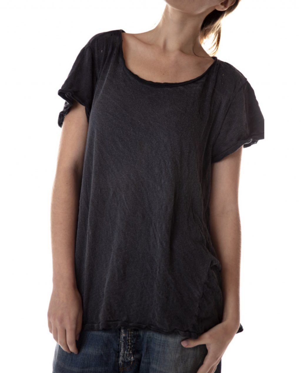 Magnolia Pearl | Cotton Jersey Baby Doll T | Coal