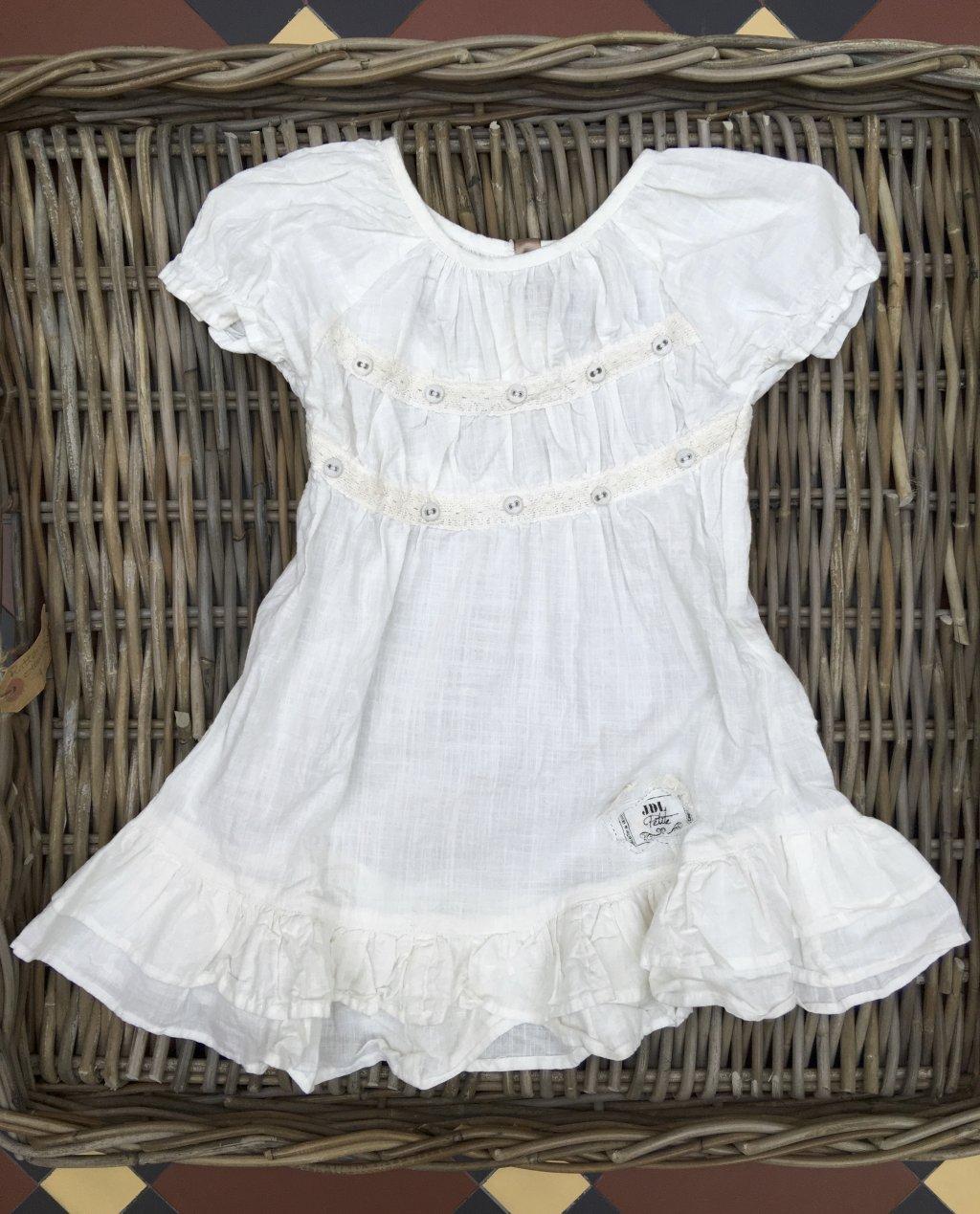 Jeanne d'Arc Living | Child's White Linen Dress | Beautiful Choices