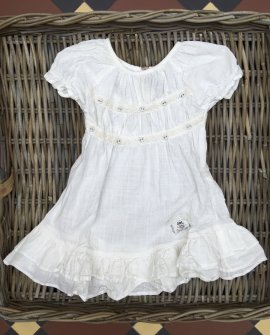 Jeanne d'Arc Living | Child's White Linen Dress | Beautiful Choices