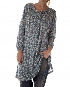 Magnolia Pearl | Birch Henley Shirt | Demy | Cotton LInen Jersey