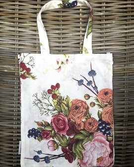 Bianca Lorenne | Linen Tote Bag | Bouquet Ivory