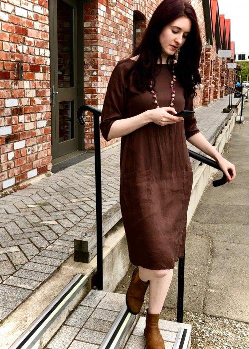 Widdess | Buddy Dress |Linen | Oak