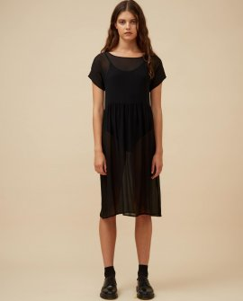 Widdess - Captain Dress - Noir - Silk Georgette