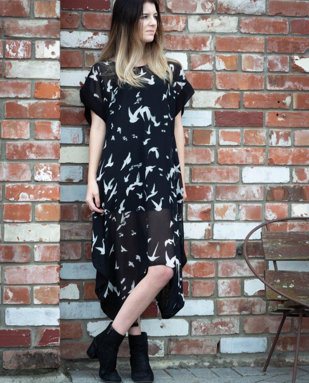 Jason Lingard   Crow Dress   Bird Print