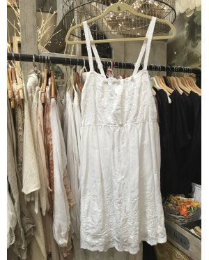 Lace - by Donelle Scott |White Cotton Sundress / Tunic with Broderie Anglais detailing
