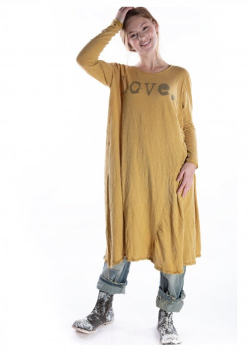 Magnolia Pearl   Cotton Jersey Love Dylan T Dress   Marigold