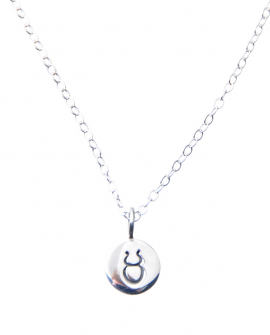 Pam Kerr Designs | Sterling Silver Zodiac Charm Necklace | 2-Taurus