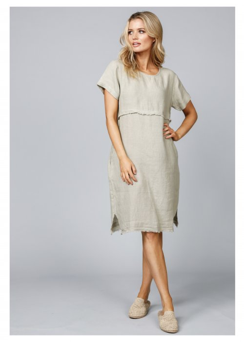 The Shanty Corporation | Eloise Dress | Tea | 100% Linen