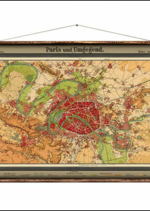 Wall Hanging by Erstwhile | Map of Paris