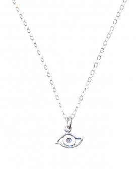 Pam Kerr Designs | Lucky Eye Charm Necklace | Sterling Silver