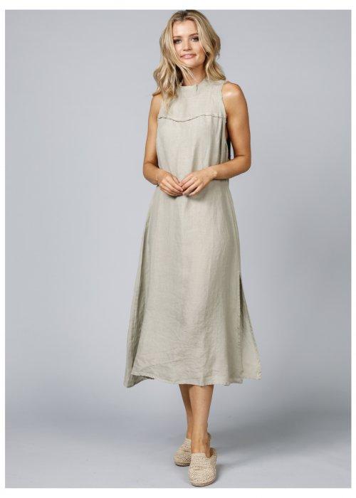 The Shanty Corporation |Helaina Dress | Tea | 100% linen (2)