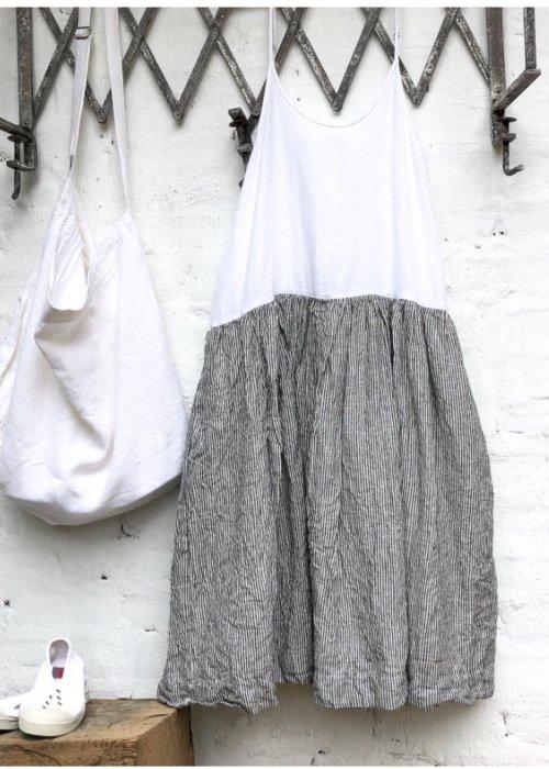 Meg by Design | High Tea Slip Dress | Linen | Black and White Stripe
