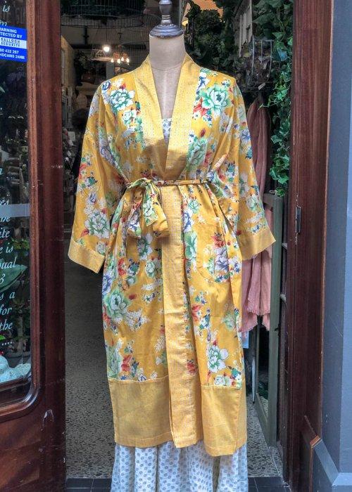Stella & Gemma| Cotton Housecoat | Yellow