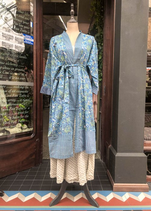 Stella & Gemma| Cotton Housecoat | Blue