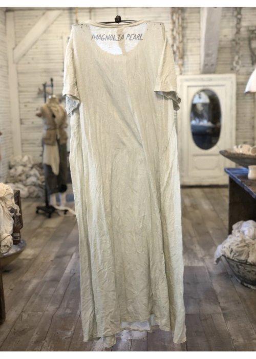 Magnolia Pearl   Cotton Jersey Interdependent Universe T Dress   New Boyfriend Cut   Moonlight