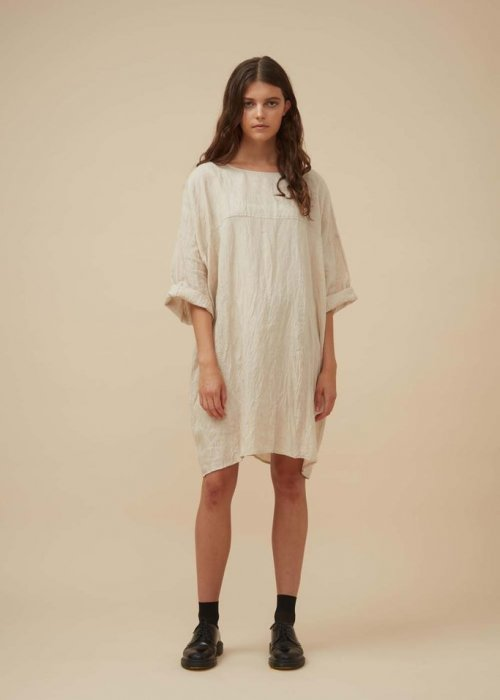 Widdess | Jiho Dress | Natural - 100% Linen | REDUCED TO HALF-PRICE