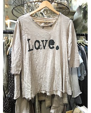 Magnolia Pearl | Cotton T-'Shirt with 3/4 Sleeves | Love