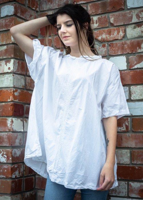 Meg by Design | Mia Paper Cotton Top | White