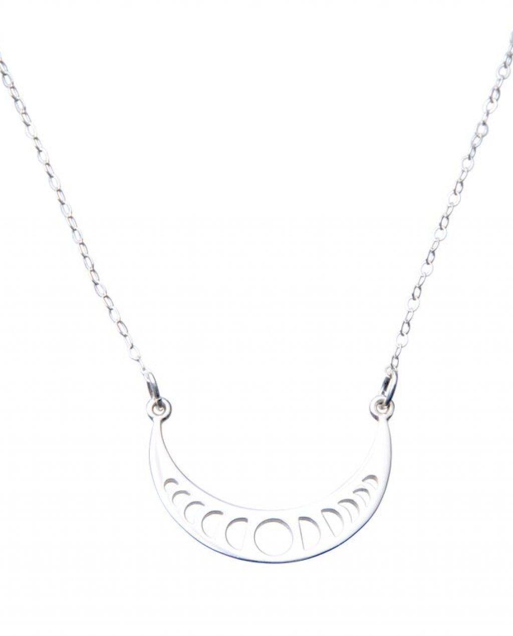 Pam Kerr Designs | Moon Phase Pendant Necklace | Sterling Silver