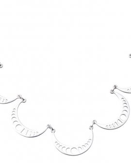 Pam Kerr Designs | Moon Phase 5-piece necklace | Sterling Silver