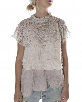 Magnolia Pearl | Otha Lea European Linen Blouse | Moonlight