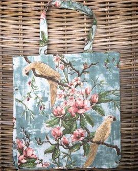 Bianca Lorenne | Linen Tote Bag | Plumiere Aqua