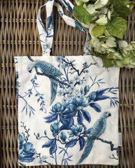 Bianca Lorenne | Linen Tote Bag | Plumiere Indigo