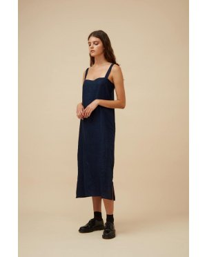 Widdess - Ranger Dress - Linen - Indigo