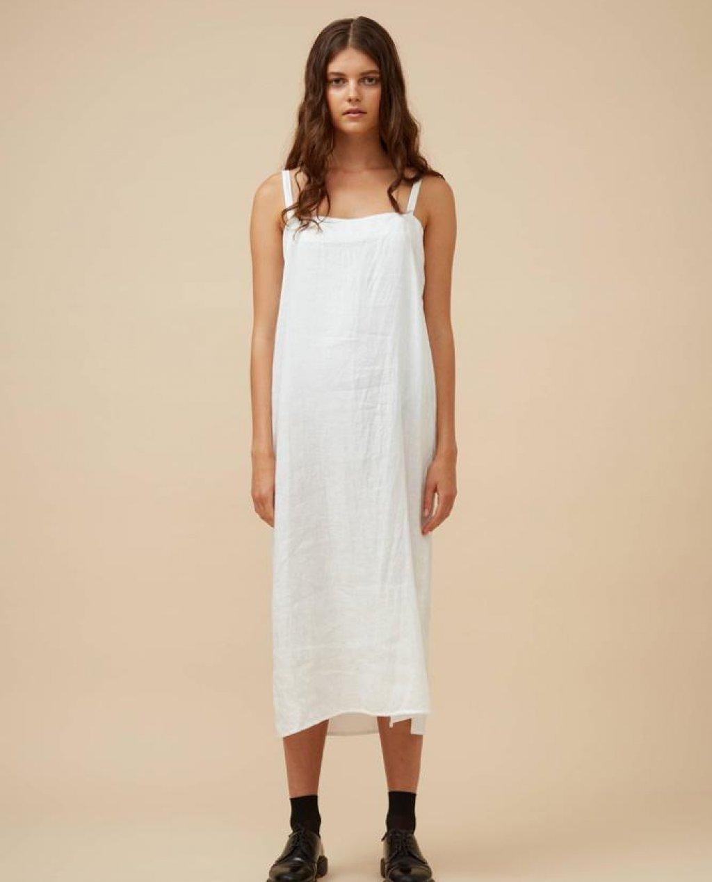 Widdess - Ranger Dress - Linen - White