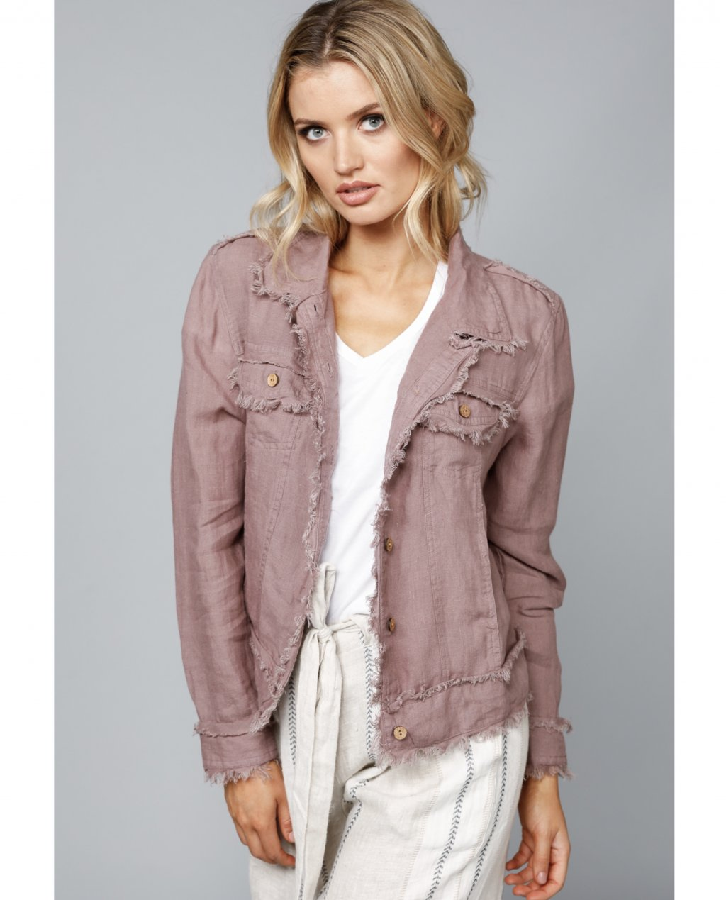 The Shanty Corporation | Monza Jacket | Sienna | 100% Linen