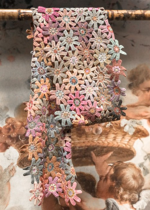 Sophie Digard | ALL NEW - SPRING 2020 | Poly | Crocheted Linen Scarf
