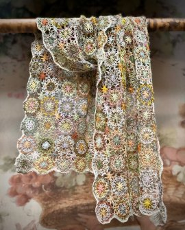 Sophie Digard - Edelweiss - Large Crochet Scarf - Linen
