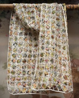 Sophie Digard - Alchemilla - Large Crochet Scarf - Linen